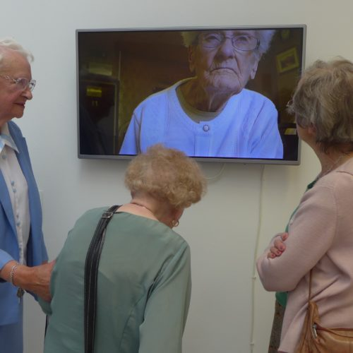 Sittingbourne Blind Fellowship at the Digital Encounters exhibition, Herbert Read Gallery.